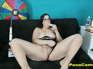 Most Beautiful PAWG Chubby Teen with Glasses and Big Tits