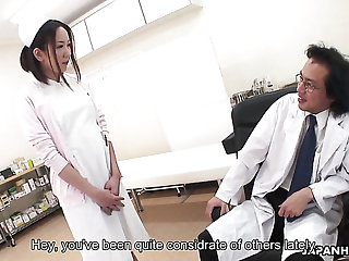 Hairy pussy of lusty Japanese nurse gets properly fucked mish by doctor