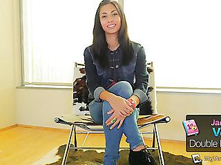 Fervent lively Latina hottie Jade Jantzen takes double penetration (FMM)